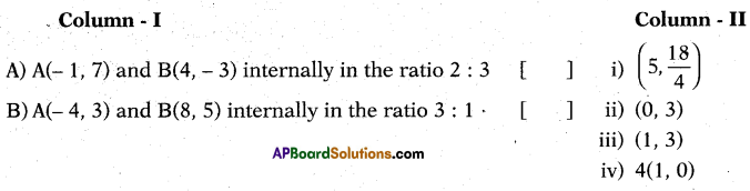 AP 10th Class Maths Bits Chapter 7 Coordinate Geometry with Answers 13
