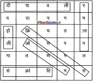 AP Board 7th Class Hindi Solutions Chapter 8 हमारे त्यौहार 2